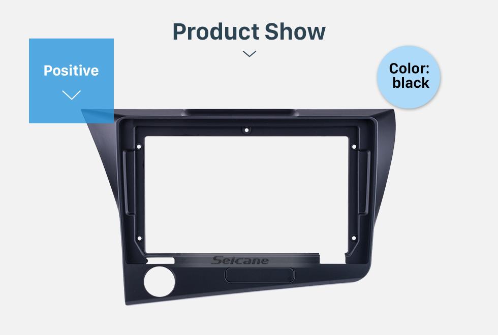 Seicane Dans le tableau de bord noir pour 9 pouces 2010 Honda CRZ LHD Fascia Panel Bezel Trim Kit Cover Trim OEM Style