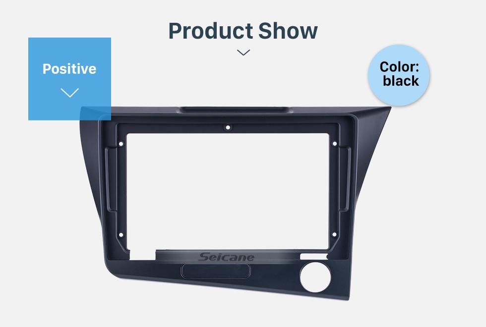 Seicane Quadro preto para 9 polegadas 2010 Honda CRZ RHD Kit de painel de painel de fáscia de guarnição de áudio