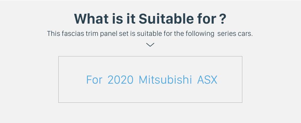 Seicane Cadre noir fascia pour 10,1 pouces 2020 Mitsubishi ASX Dash Mount Kit Trim Trim Panel No gap