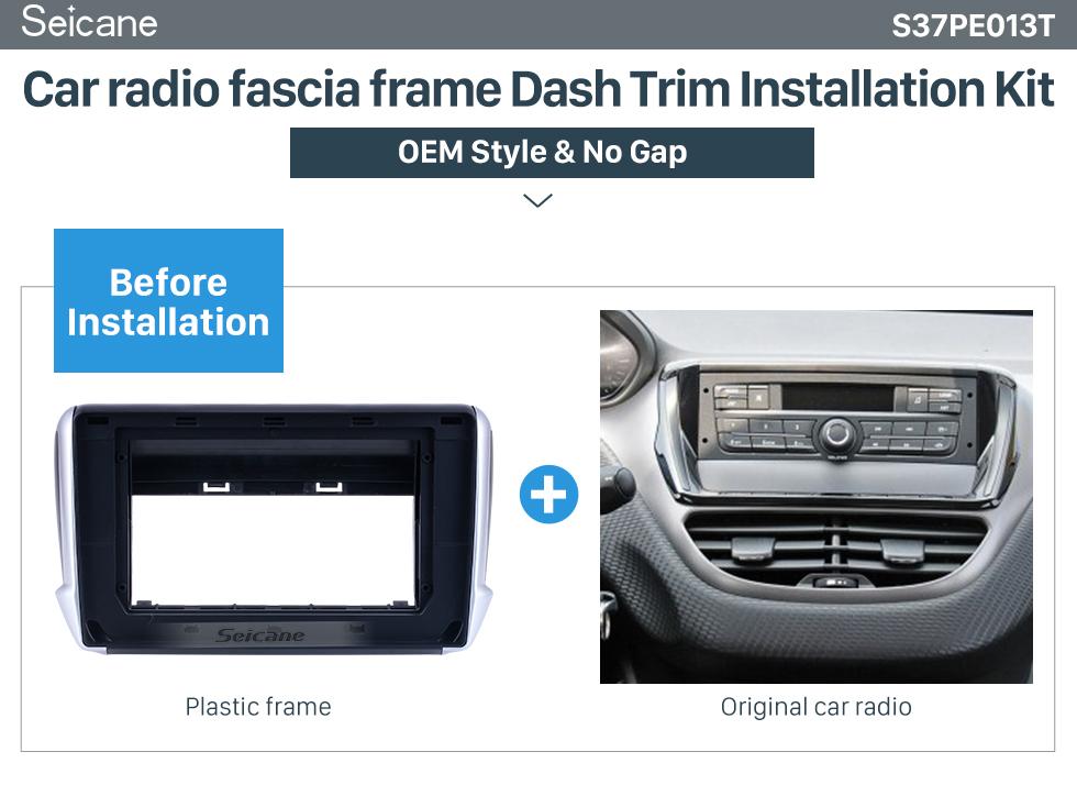 Seicane Din duplo Para 10.1 polegadas 2001-2006 Nissan Sentra Fascia Moldura de Prata Traço Kit de Montagem Painel de Guarnição