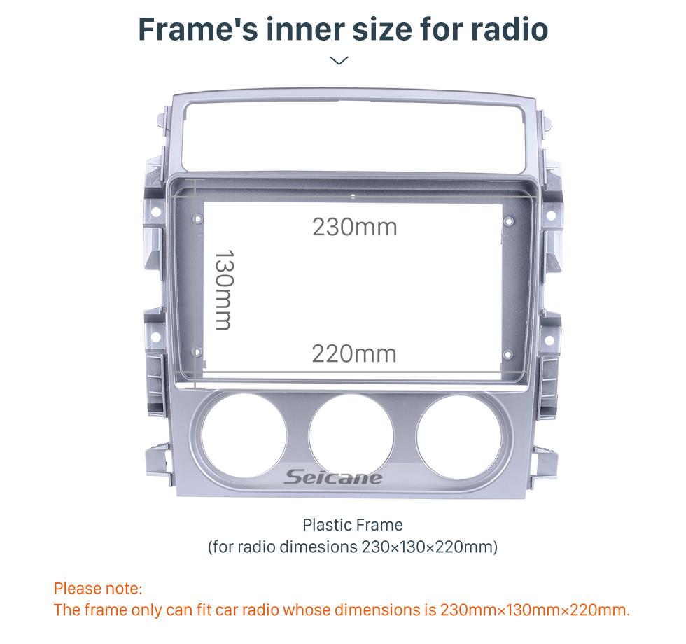 Seicane En Dash Silver Frame Pour 9 pouces 2018 Suzuki Liana Fascia Panel Bezel Trim Kit Cover Trim OEM Style