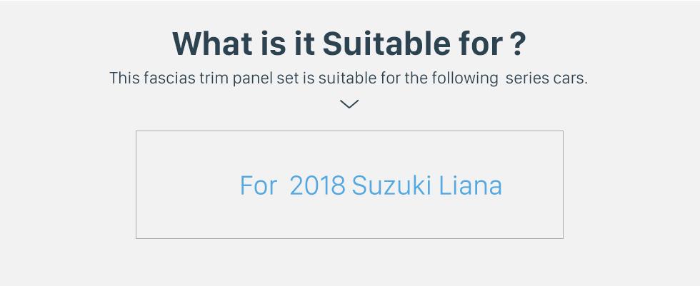 Seicane No Traço Quadro de Prata Para 9 polegada 2018 Suzuki Liana Fascia Painel Moldura Kit Guarnição Tampa Guarnição Estilo OEM