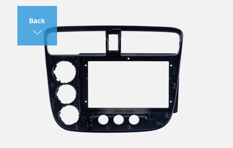 Seicane Fascia Black Frame for 9 inch 2014 Hyundai Elantra / I-35 RHD Dash Mount Kit Trim Trim Panel No gap