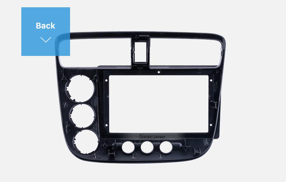 Seicane Moldura de prata para 9 polegadas 2013-2017 Chevy Chevrolet Epica Áudio Traço Guarnição Fascia Panel Kit