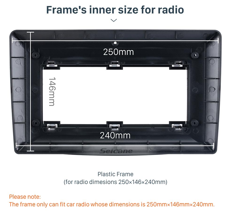 Seicane Quadro preto 9 polegada Para 2007-2014 Benz C-CLass Audio Dash Trim Fascia Panel Kit