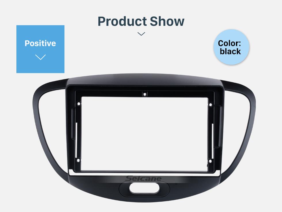 Seicane Prateado no painel da fáscia do traço Kit de instalação do quadro de guarnição para 10,1 polegadas 2015-2020 Nissan Patrol OEM Style