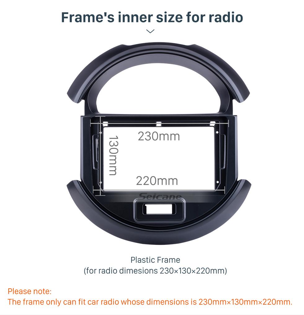 Seicane Fascia UV Black Frame 10.1 polegada para 2017-2018 Buick GL8 Dash Mount Kit Trim Trim Painel