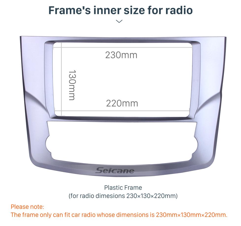 Seicane Moldura preta para 9 polegadas Peugeot 207 Audio Dash Trim Fascia Panel Kit