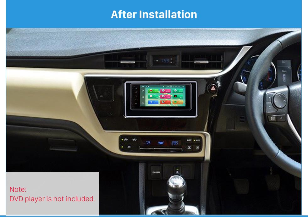 After Installation 202*102mm Double Din 2017 Toyota Altis Car Radio Fascia Dash Mount Kit CD Trim Installation Frame Panel