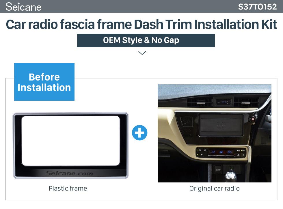 Car radio fascia frame Dash Trim Installation Kit  202*102mm Double Din 2017 Toyota Altis Car Radio Fascia Dash Mount Kit CD Trim Installation Frame Panel