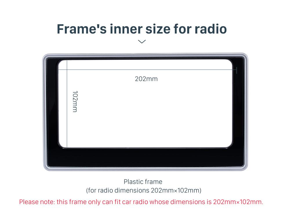 Frame's inner size for radio 202*102mm Double Din 2017 Toyota Altis Car Radio Fascia Dash Mount Kit CD Trim Installation Frame Panel