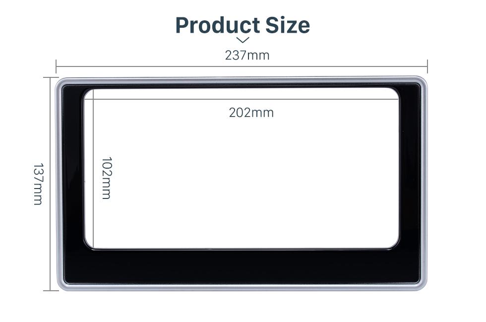 Product Size 202*102mm Double Din 2017 Toyota Altis Car Radio Fascia Dash Mount Kit CD Trim Installation Frame Panel