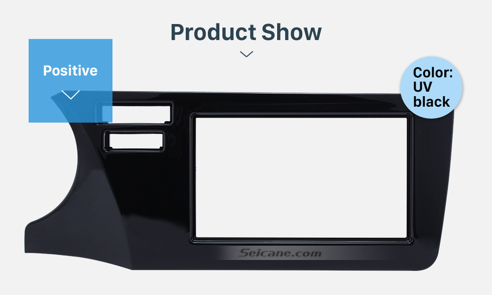 Product Show Top Quality Double Din 2014 Honda City LHD Car Radio Fascia Refitting Kits DVD Frame panel Auto Stereo WITH SRS HOLE