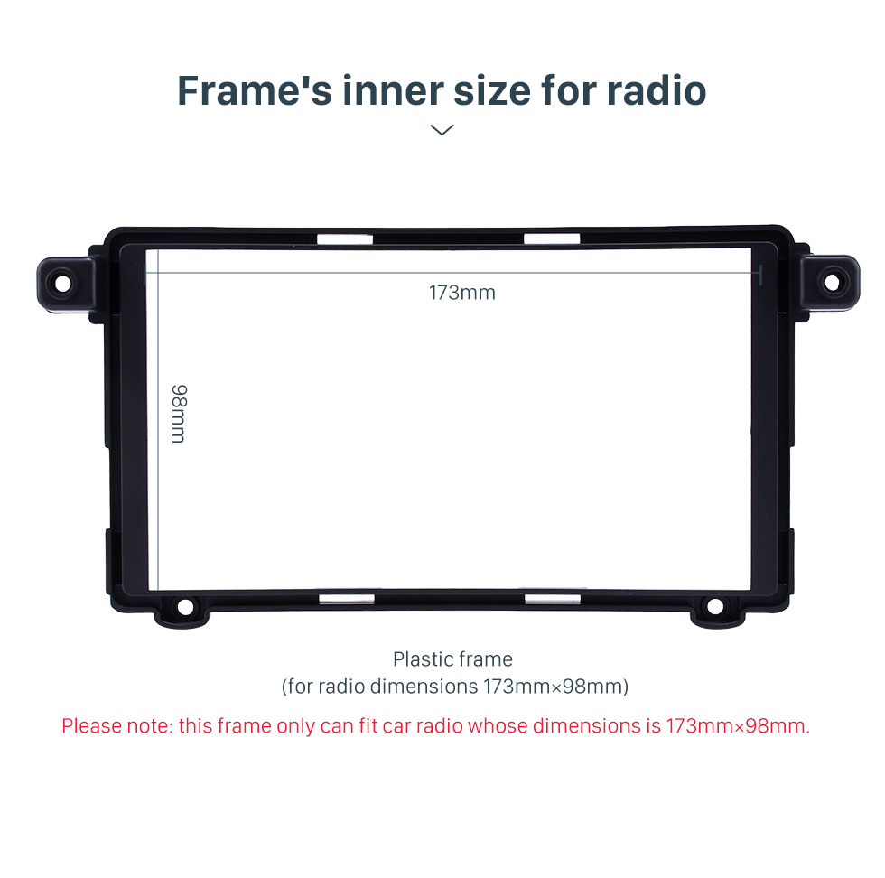 Frame's inner size for radio Superior Double Din 2017+ HYUNDAI I-10 Car Radio Fascia Surround Panel Stereo Frame Install CD Trim
