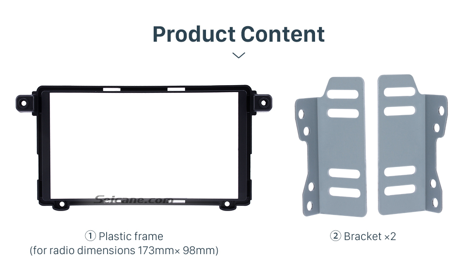 Product Content Superior Double Din 2017+ HYUNDAI I-10 Car Radio Fascia Surround Panel Stereo Frame Install CD Trim