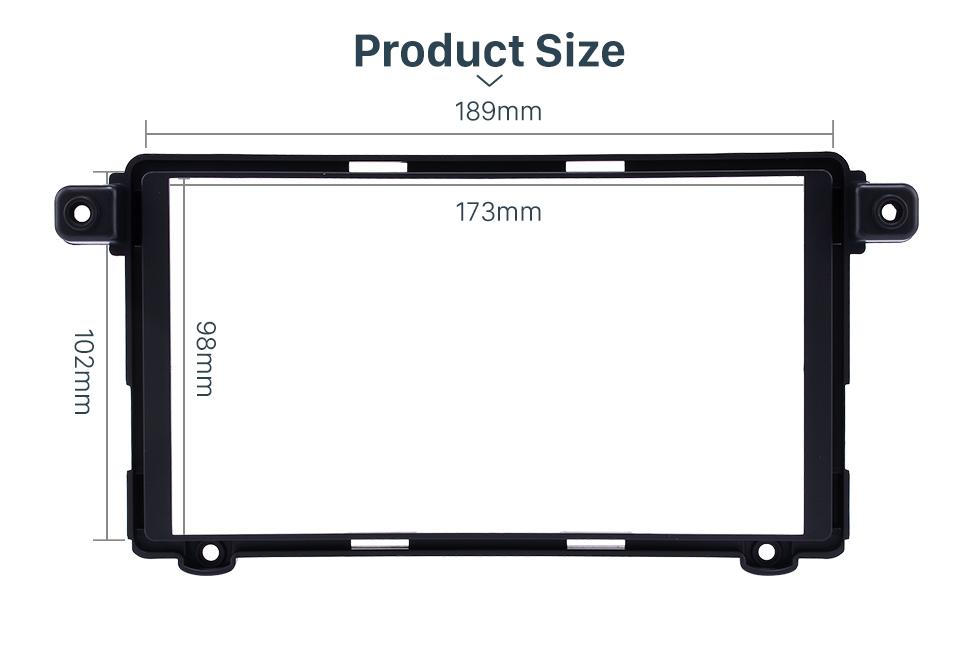 Product Sizel Superior Double Din 2017+ HYUNDAI I-10 Car Radio Fascia Surround Panel Stereo Frame Install CD Trim