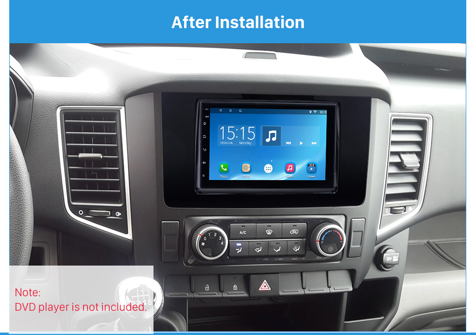After Installation Fascinating Double Din 2016 HYUNDAI H350 Car Radio Fascia DVD Gps Decorative Frame Dash Kit Stereo Install
