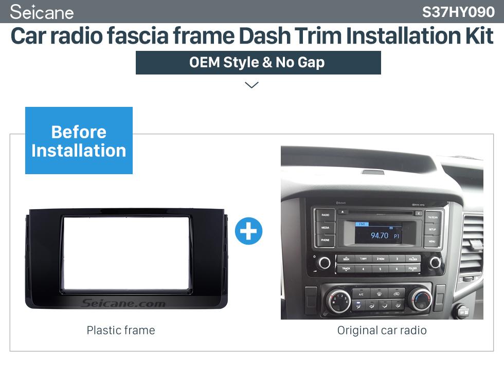 Car radio fascia frame Dash Trim Installation Kit Fascinating Double Din 2016 HYUNDAI H350 Car Radio Fascia DVD Gps Decorative Frame Dash Kit Stereo Install