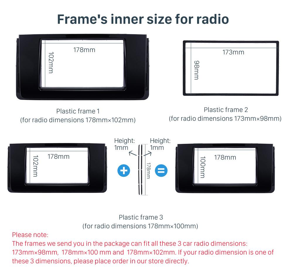 Frame's inner size for radio Fascinating Double Din 2016 HYUNDAI H350 Car Radio Fascia DVD Gps Decorative Frame Dash Kit Stereo Install