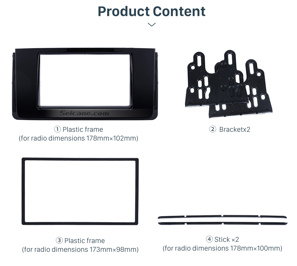 Product Content Fascinating Double Din 2016 HYUNDAI H350 Car Radio Fascia DVD Gps Decorative Frame Dash Kit Stereo Install