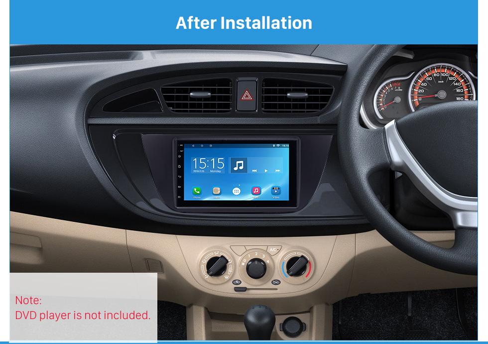 uv black double din suzuki alto car radio fascia audio player panel frame auto stereo