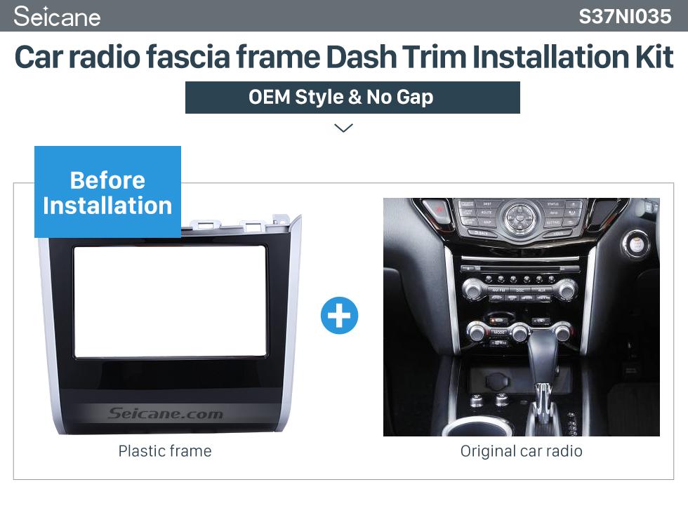 Car radio fascia frame Dash Trim Installation Kit  Double Din Car Radio Frame Plastic Fascia Dash Panel for 2013+ NISSAN PATHFINDER Install Dash Bezel Cover Trim Kit No gap