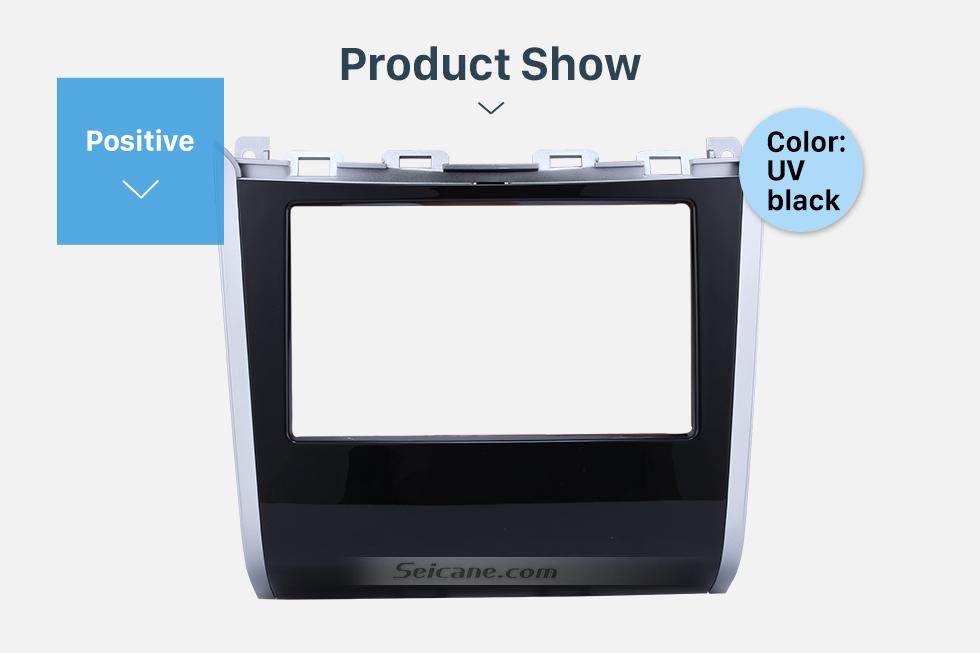 Product Show Double Din Car Radio Frame Plastic Fascia Dash Panel for 2013+ NISSAN PATHFINDER Install Dash Bezel Cover Trim Kit No gap