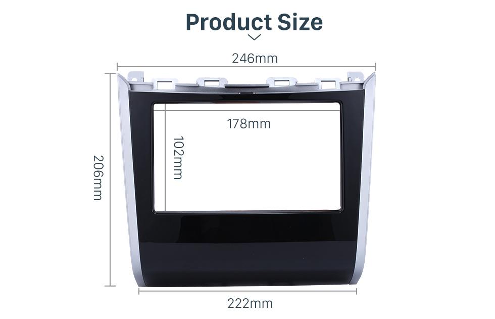 Product Size Double Din Car Radio Frame Plastic Fascia Dash Panel for 2013+ NISSAN PATHFINDER Install Dash Bezel Cover Trim Kit No gap