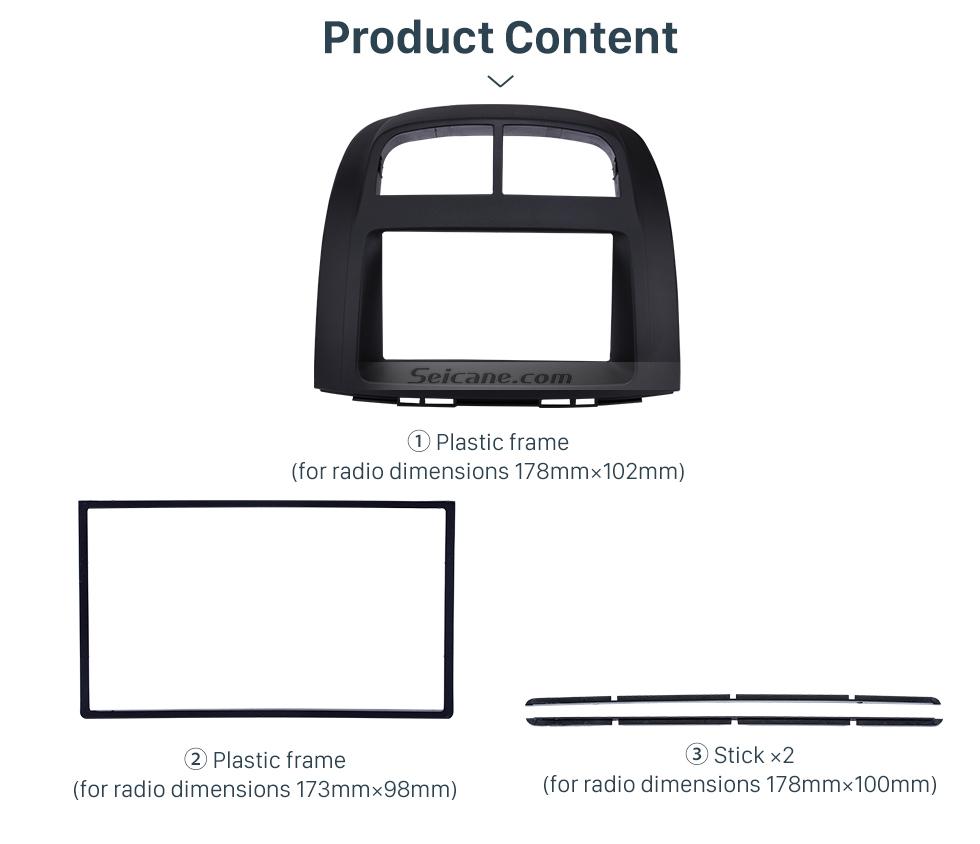 Seicane Elegant Double Din 2011 PROTON MYVI/Daihastu Sirion/TOYOTA Passo Car Radio Fascia Trim Bezel Frame Panel Stereo Dash Kit Installation