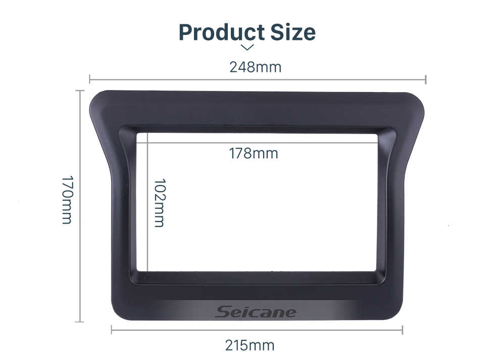 Seicane OEM style Double Din Car Stereo Fascia Dash Panel Dash Bezel Kit Cover Frame Trim For 2010 Nissan N400 Opel Movano Renault Master III No GAP