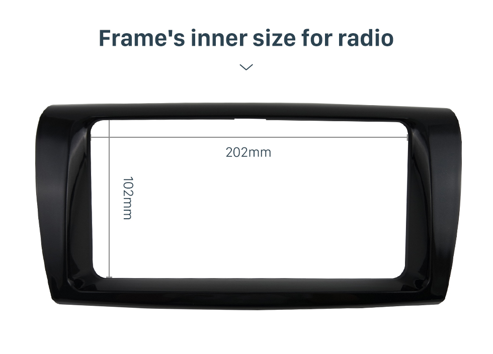 Seicane In dash 2 Din UV BLACK Car Radio Fascia Frame Dash Panel Dash Bezel Kit Cover Trim For 2017 TOYOTA VIOS YARIS L OEM style No gap