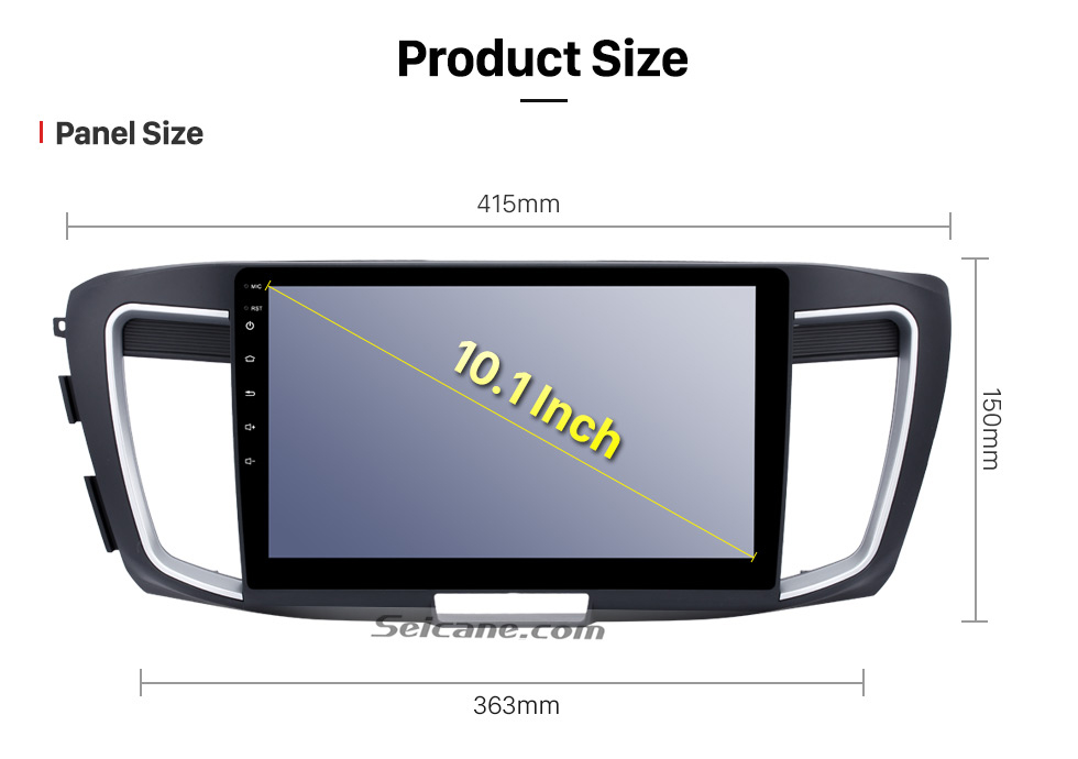 Seicane 10.1 inch HD Touch Screen Android 6.0 Car Stereo for 2016 Honda accord 9 (2.0L) GPS Navigation with Radio Bluetooth Music USB DVR 3G WIFI Mirror link Steering Wheel Control 1080P Video Canbus