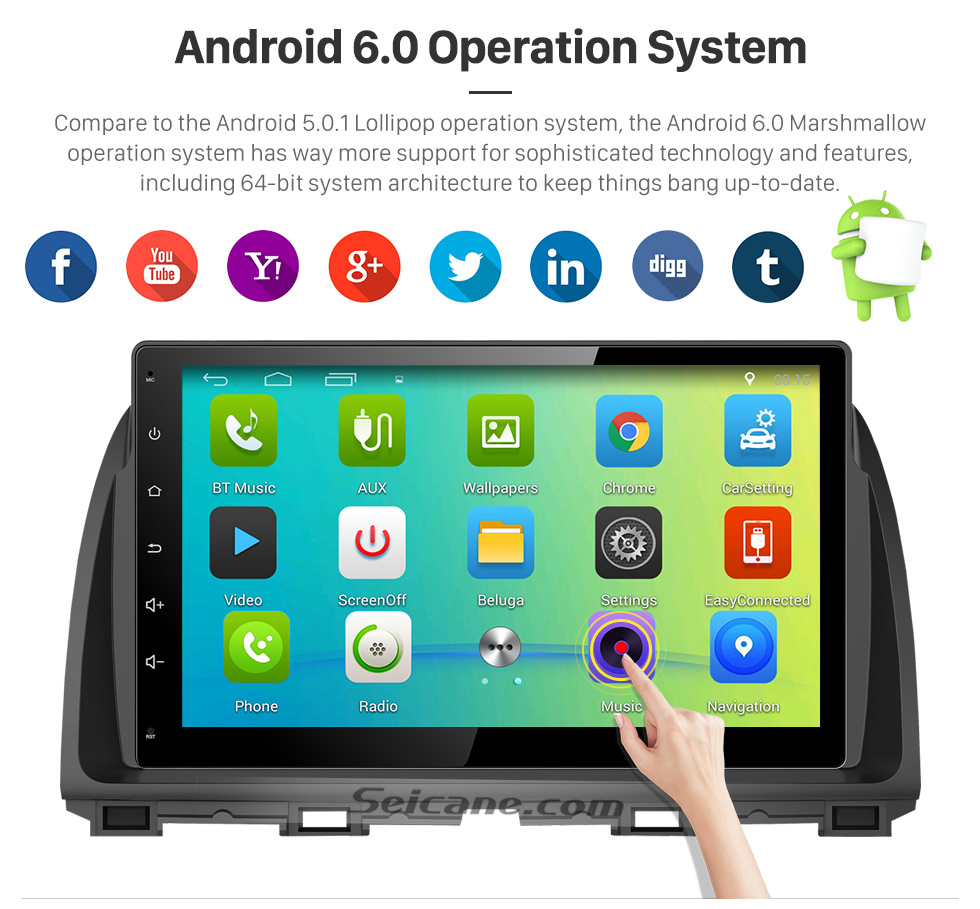 Android 6.0 Operation System 10.1 inch 2016 Peugeot 308 Android 6.0 Radio GPS Navigation system Support Canbus Bluetooth Music USB 1080P Video 3G WIFI OBD2 Mirror Link Rearview