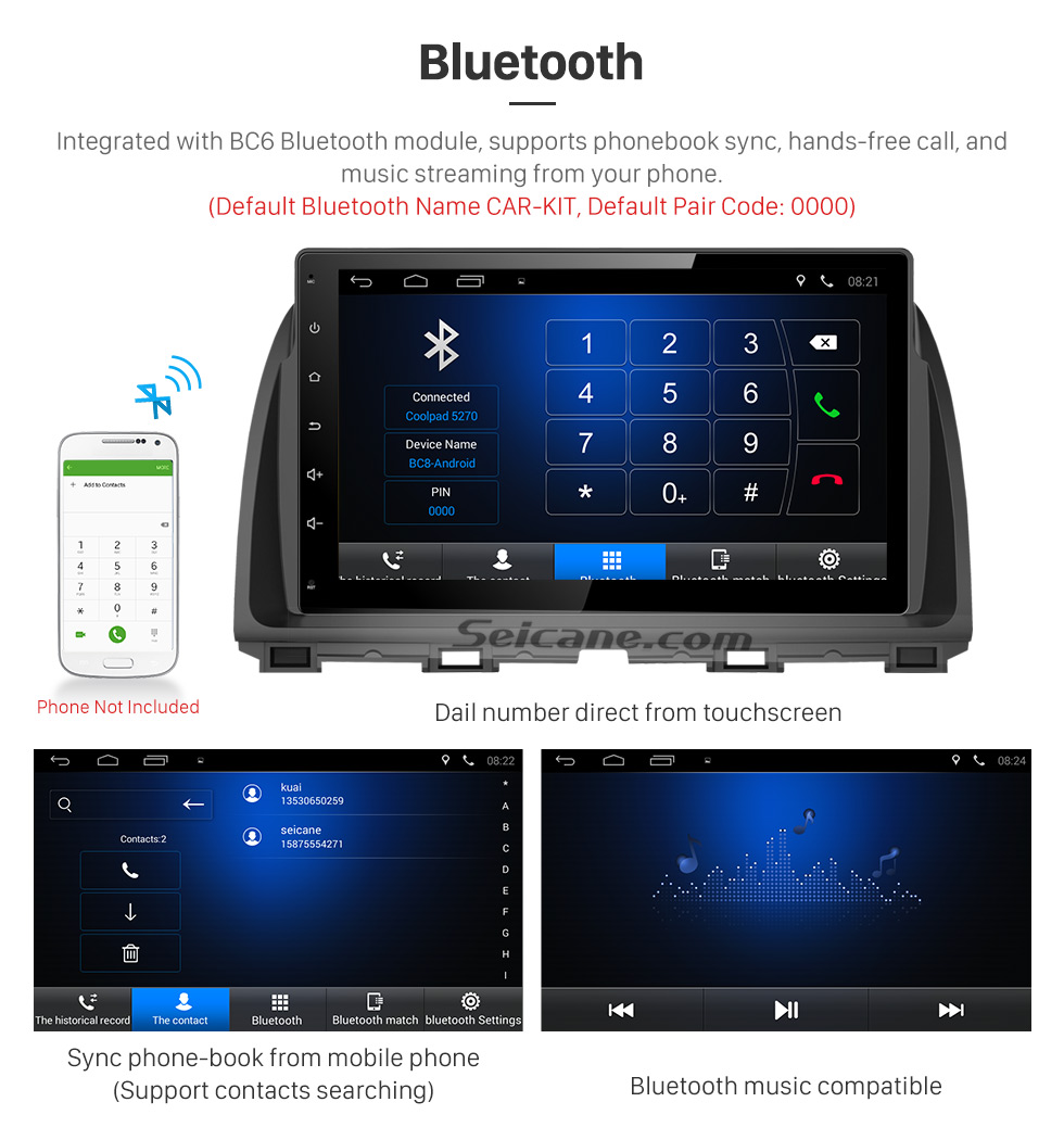 Bluetooth 10.1 inch 2016 Peugeot 308 Android 6.0 Radio GPS Navigation system Support Canbus Bluetooth Music USB 1080P Video 3G WIFI OBD2 Mirror Link Rearview