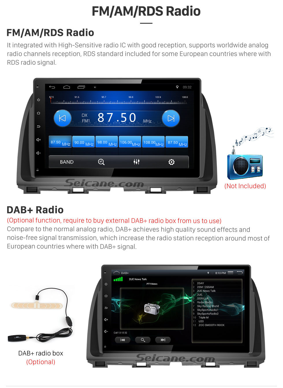 FM/AM/RDS Radio 10.1 inch 2016 Peugeot 308 Android 6.0 Radio GPS Navigation system Support Canbus Bluetooth Music USB 1080P Video 3G WIFI OBD2 Mirror Link Rearview