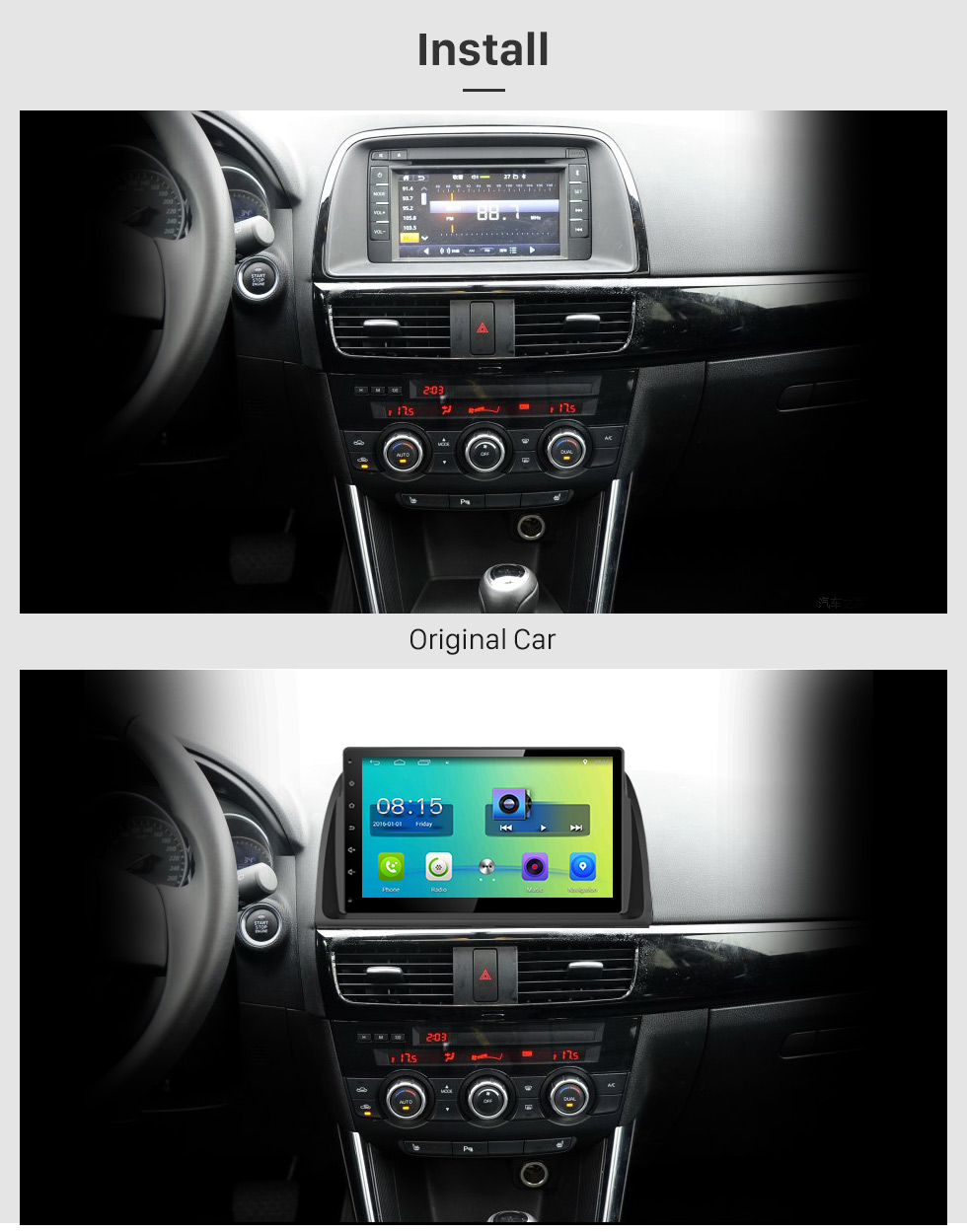 Install 10.1 inch 2016 Peugeot 308 Android 6.0 Radio GPS Navigation system Support Canbus Bluetooth Music USB 1080P Video 3G WIFI OBD2 Mirror Link Rearview