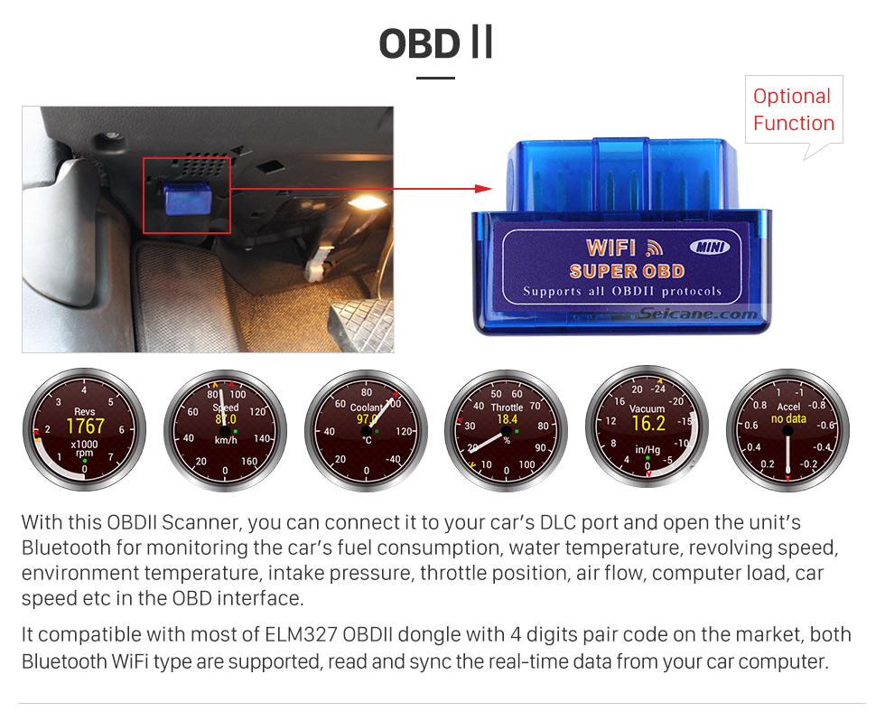 OBDII 10.1 inch 2016 Peugeot 308 Android 6.0 Radio GPS Navigation system Support Canbus Bluetooth Music USB 1080P Video 3G WIFI OBD2 Mirror Link Rearview