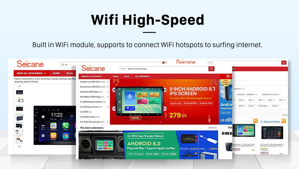 Seicane OEM 10,25 polegadas para 2012 2013 2014 LEXUS ES Android 8.0 Rádio Bluetooth HD Touchscreen GPS Suporte de navegação Carplay DAB + TPMS