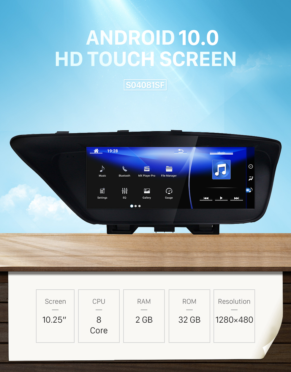 Seicane For 2013 2014 2015 2016 2017 2018 LEXUS ES Android 7.1 HD Touchscreen 10.25 inch AUX Bluetooth GPS Navigation Radio support SWC Carplay
