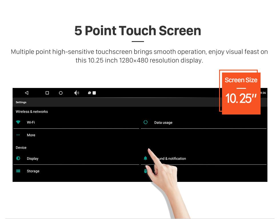 Seicane Para 2013 2014 2015 2016 2017 2018 LEXUS ES Android 7.1 HD Touchscreen 10,25 polegadas AUX Bluetooth Navegação GPS suporte de rádio SWC Carplay