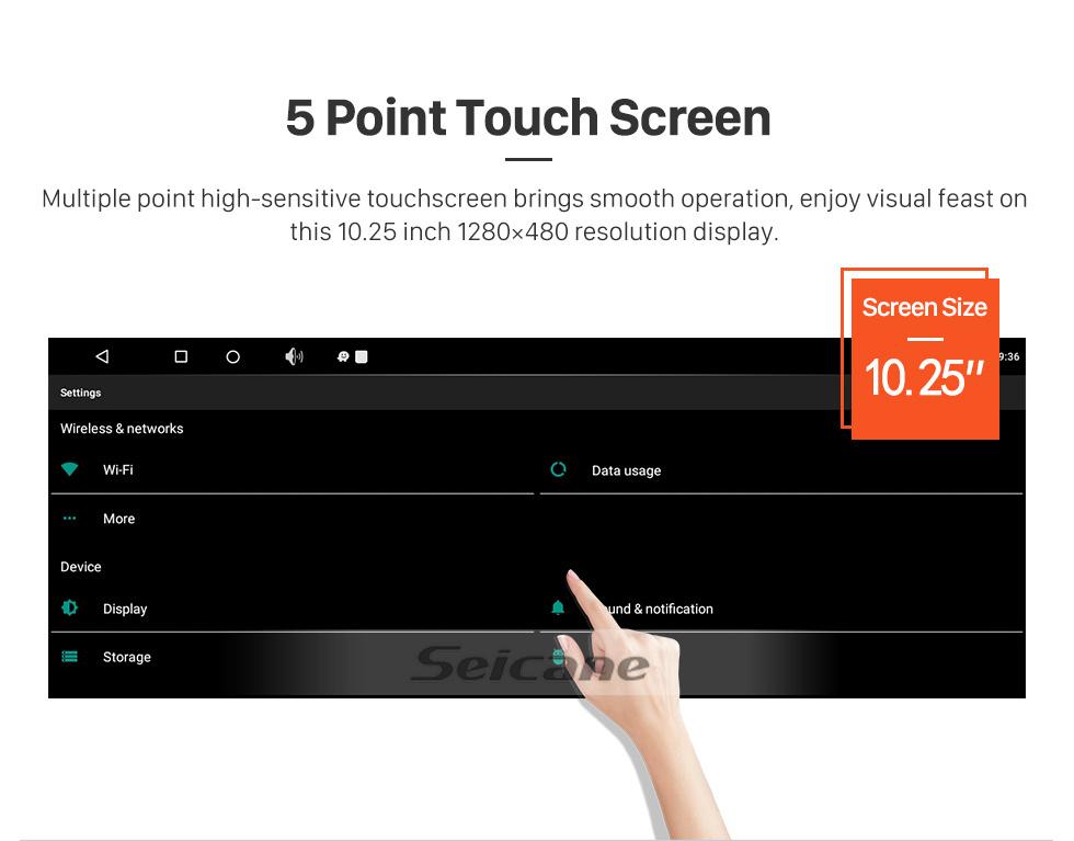 Seicane OEM 10,25 дюйма для 2009 2010 2011 2012 2013 2014 LEXUS RX Radio Android 7.1 Bluetooth HD Сенсорный экран GPS Поддержка навигации Carplay TPMS