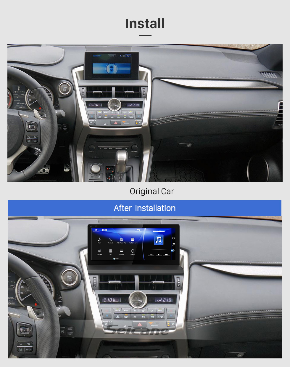 Seicane 10.25 inch HD Touchscreen for 2014 2015 2016 2017 Lexus NX Android 7.1 GPS Navigation Radio With Bluetooth WIFI support Carplay DVR