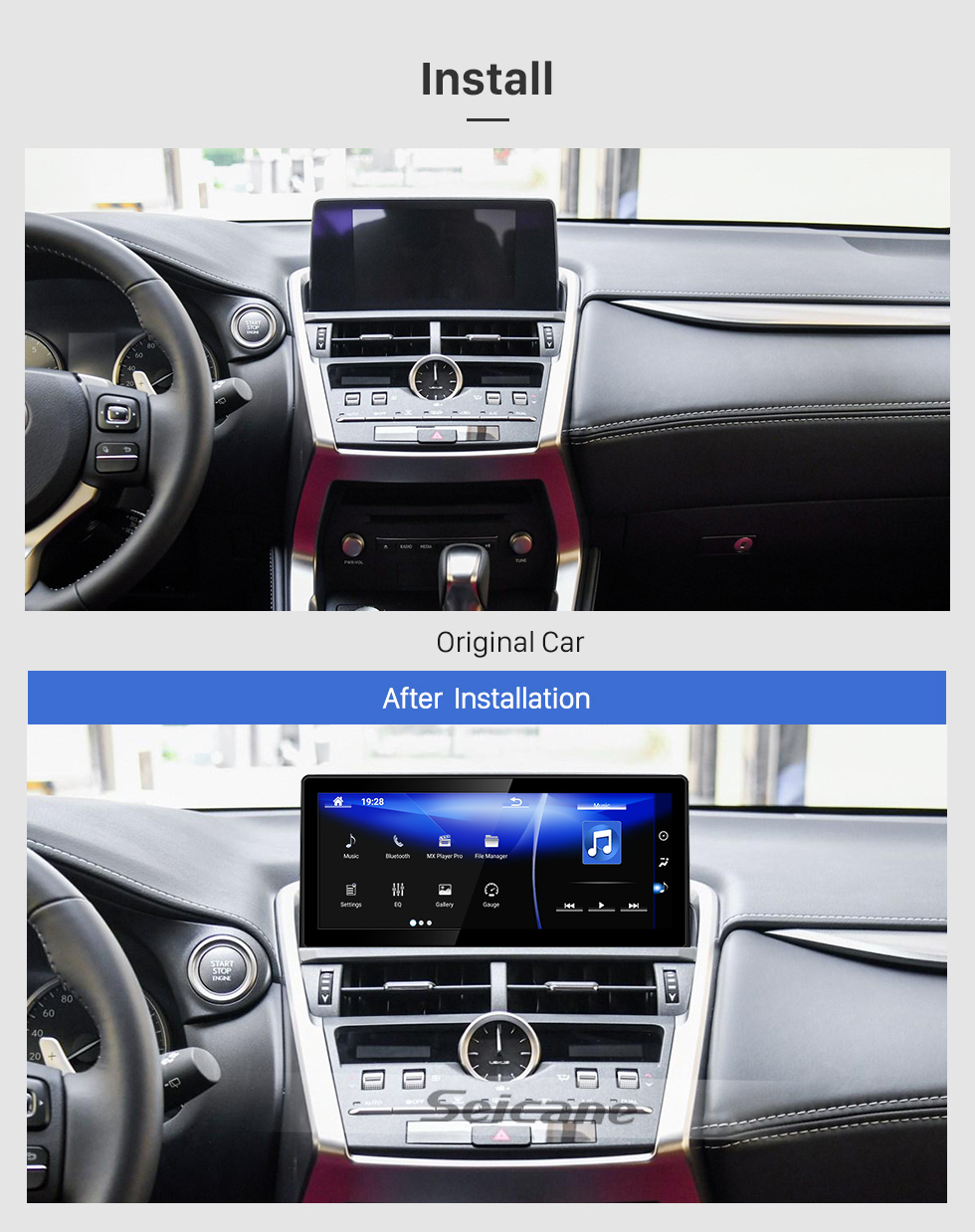 Seicane HD Touchscreen for 2018 2019 Lexus NX 10.25 inch Android 7.1 GPS Navigation Radio with Bluetooth support Carplay TPMS DAB+ OBD2