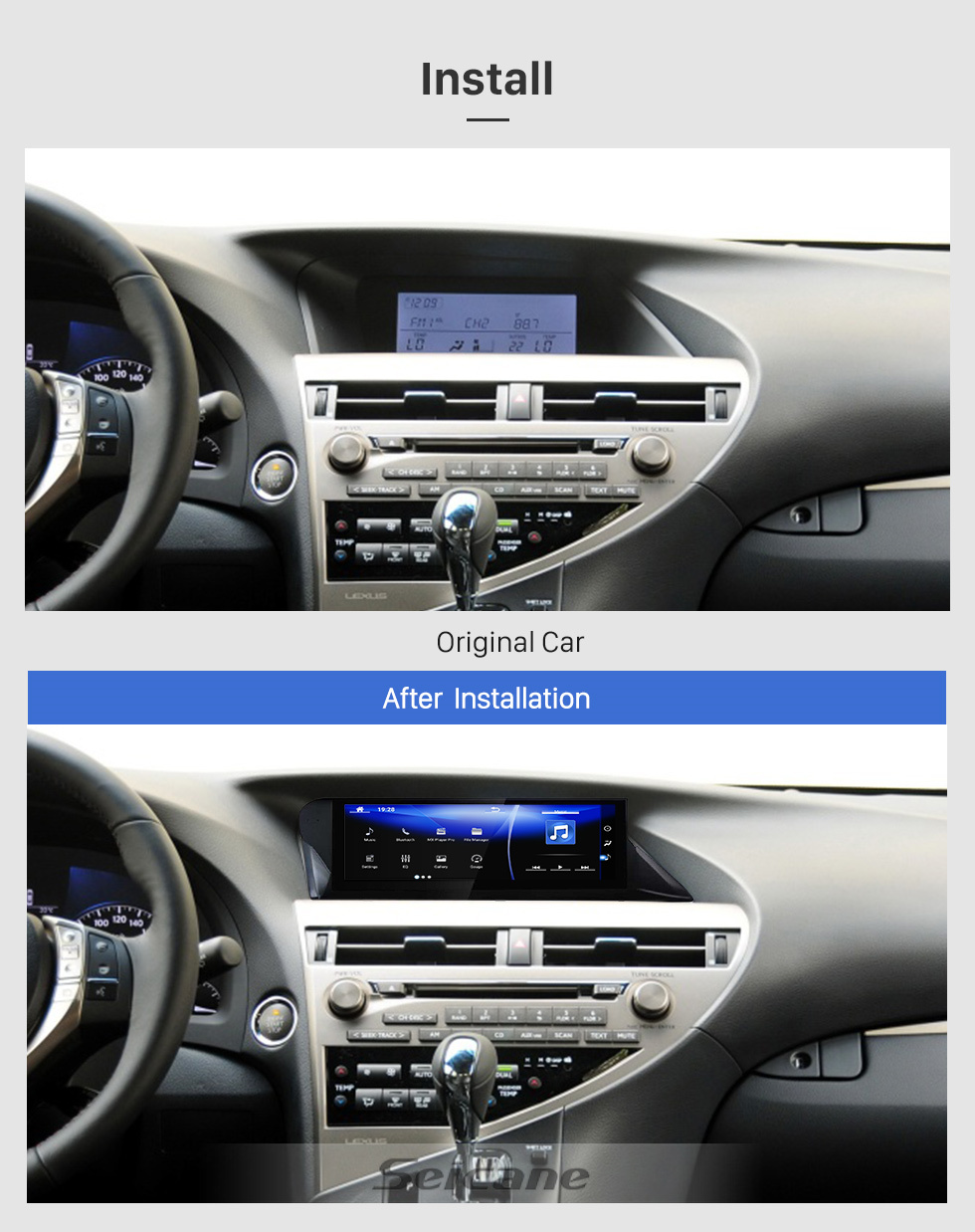 Seicane OEM 10.25 inch for 2009-2012 2013 2014 LEXUS RX RHD Radio Android 7.1 HD Touchscreen Bluetooth GPS Navigation System support Carplay DAB+