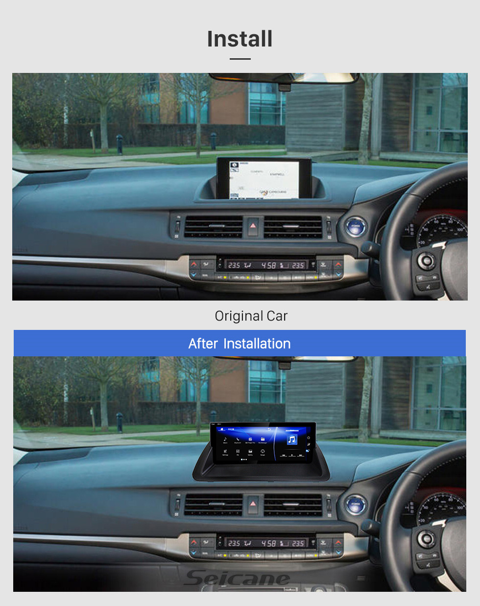 Seicane Android 7.1 10.25 inch for 2011 2012 2013 2014 2015 2016 2017 2018 2019 Lexus CT200 RHD Top Version Radio With GPS Navigation System HD Touchscreen Bluetooth support Carplay