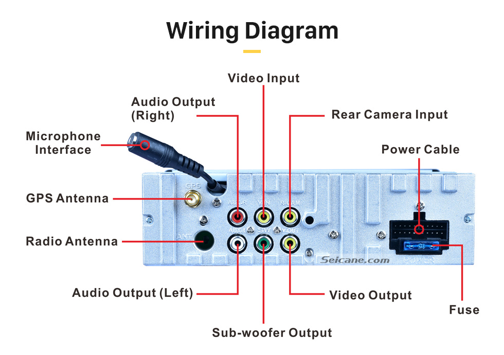 universal cd player wiring diagram wiring diagramsingle 1 din car stereo touchscreen bluetooth radio music gpswiring
