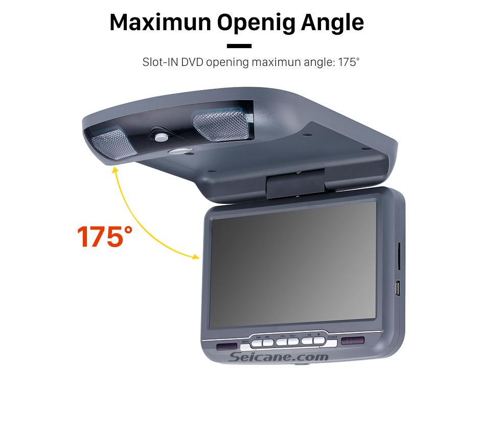 Seicane Telhado Montar leitor de DVD 9 polegadas com FM USB SD Jogos
