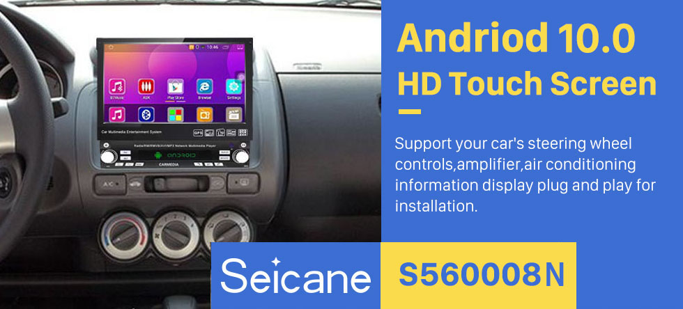 Seicane Android 6.0 Univeral One DIN Car Radio GPS Navigation Multimedia Player with Bluetooth WIFI Music Support Mirror Link  SWC DVR 1080P Video