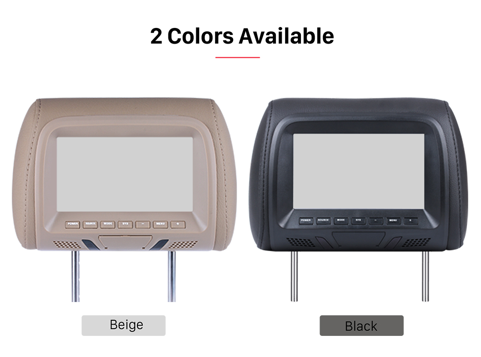 Seicane Car Headrest high definition 800*480 LCD Monitor(1 Pair)