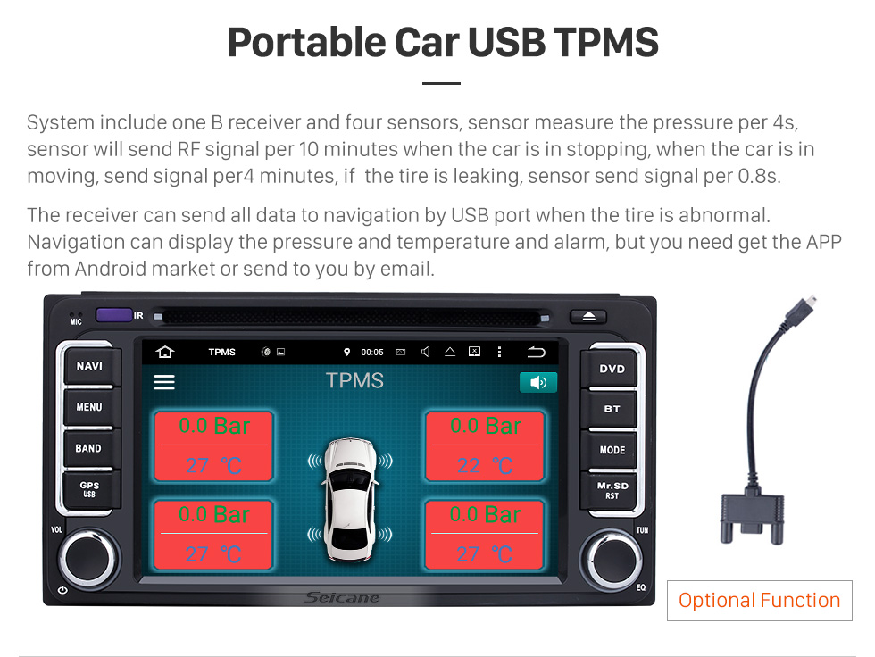 Seicane All-in-one Android 8.0 Radio GPS Navigation System For 2006-2010 TOYOTA Terios with Touch Screen Bluetooth 3G WiFi DVD Player Steering Wheel Control AUX Mirror Link OBD2